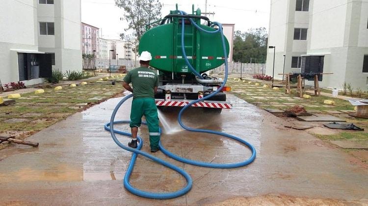 água para construtoras lavagem e irrigação em geral